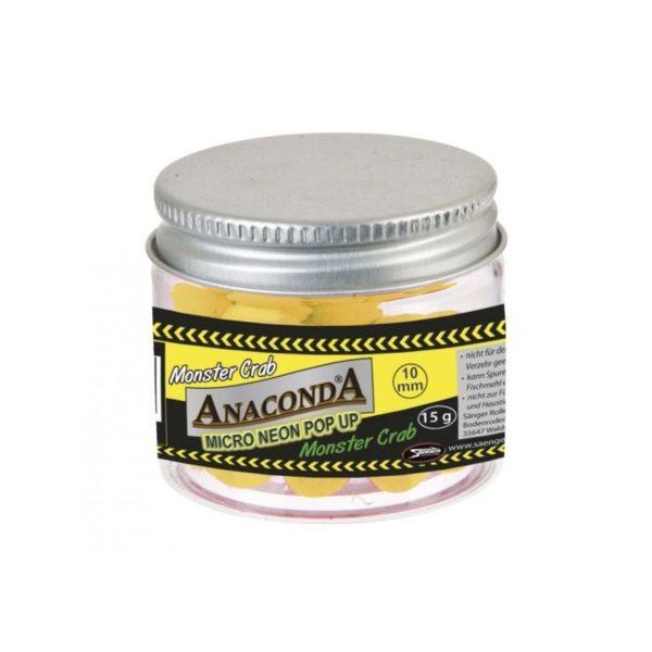 Ochutené plávajúce boilies Anaconda Micro Neon PopUp