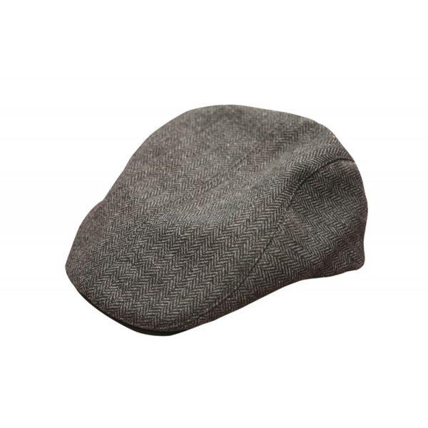 Baretka FOX Chunk Twill Flat Cap Black/Grey