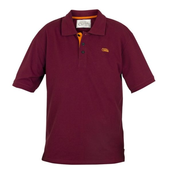 Polokošela FOX Chunk Polo Shirt Burgundy/Orange