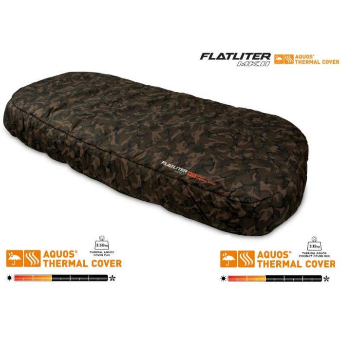 Termo prehoz na lehátko FOX Flatliter MKII Thermal Aquos Camo Cover - Rybárske potreby LM Rybárstvo