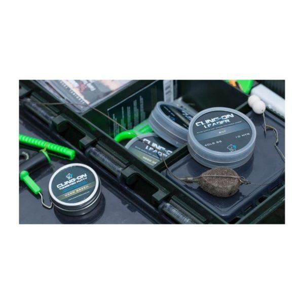 Olovená šnúra NASH Cling-On Leader 40lb 10m Zelená Trávová