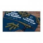 Prevlek na závesku NASH Lead Clip Tail Rubbers Diffusion Camo 10ks