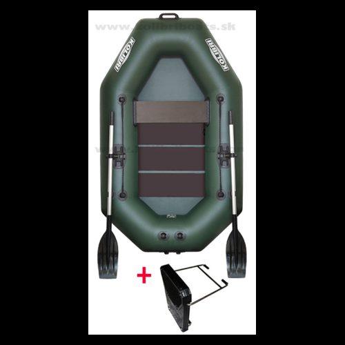 Čln Kolibri K-220 Zelený  Lamelová podlaha Rybárske potreby LM Rybárstvo