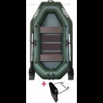 Čln Kolibri K-240T Zelený Lamelová podlaha  Držiak Motora - Rybárske potreby LM Rybárstvo