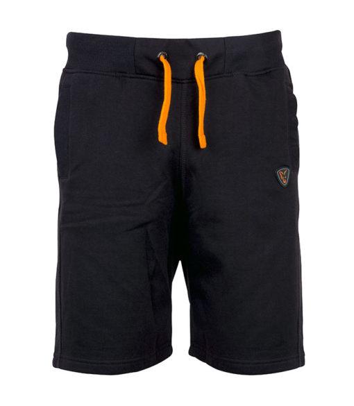 black orange shorts