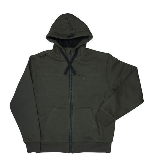 green black heavy lined hoody